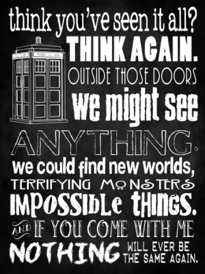 Doctor Who Quote - Nothing Will Ever Be the Same - Time Lord Quote ...