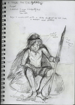Simon Lord Of The Flies Roger's sketch (lord of the