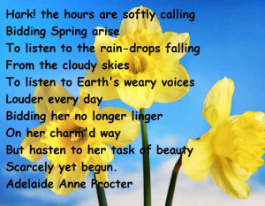 ... To The Rain-Drops Falling From The Cloudy Skies… ~ Spring Quote