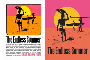 ... Brown's classic surf film The Endless Summer - John Van Hamersveld