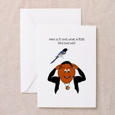 cute expecting new baby Greeting Card for
