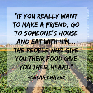 ... give you their food give you their heart.