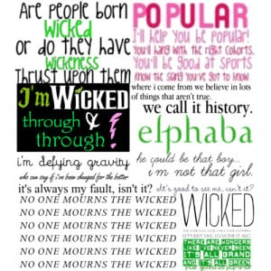 Wicked Quotes - Polyvore