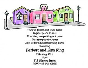 Pretty Houses - Housewarming party invitations