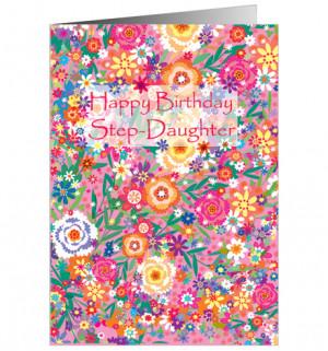 Happy Birthday Step-Daughter - Fb135