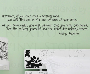 Wall-Sticker-Decal-Quote-Vinyl-Art-Hands-for-Helping-Others-Audrey ...