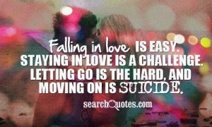 Falling in love is hard quotes