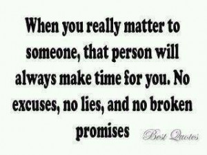 No Excuses No Lies And no Broken promises