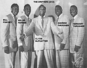 The Drifters appeared at the Apollo Theater the week of March 26, 1954 ...
