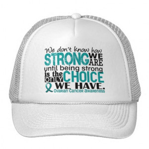 Ovarian Cancer's Teal Ribbon A4 Trucker Hats