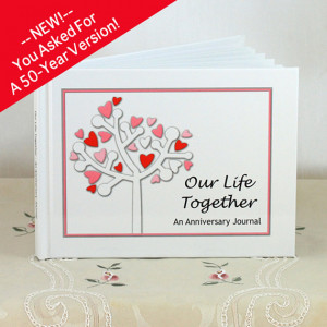 Wedding Anniversary Journal - 50 Years of Marriage - Gift for Bridal ...