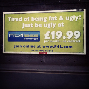 local gym's solution to feeling fat and ugly