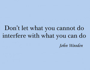 Vinyl Wall Art, Famous Quote John Wooden, Basketball