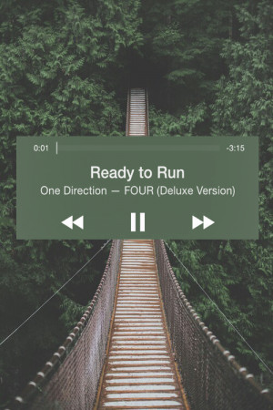 ... this image include: one direction, four, ready to run, music and song
