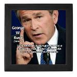 Terrorism George W. Bush Keepsake Box