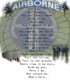 paratrooper poem. WWII Paratrooper's Reunion, Fort Bragg, NC. More
