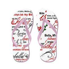 Team Edward Quotes Flip Flops for