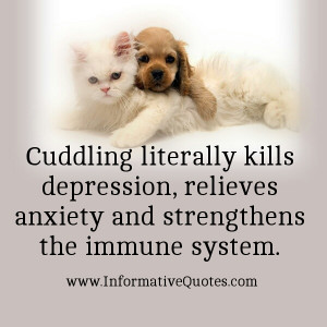 Cuddling can awake 'little inner child' and you can be happy every ...