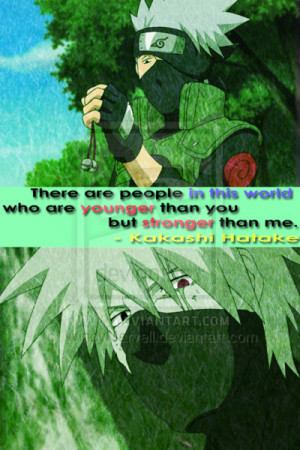 Kakashi Quote to Naruto by WindyMarvell
