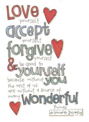 quote about loving yourself dr. leonardo buscaglia