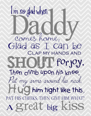 So Glad When Daddy Comes Home - Father's Day Freebie