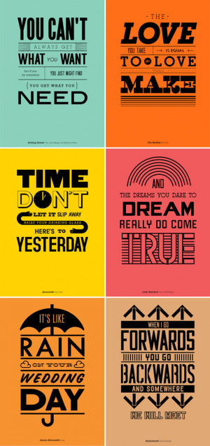 Famous lyric posters.