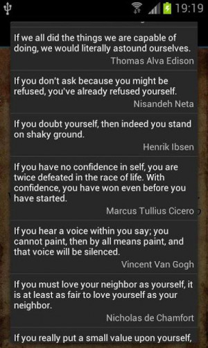 Confidence Quotes Screenshot 4