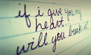 break, heart, love, notebook, quote, text