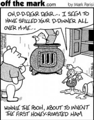 winnie the pooh inventing honey roast ham