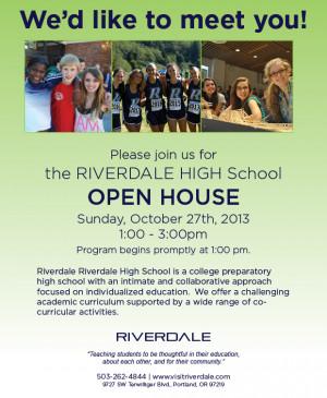 All School Open House Flyer
