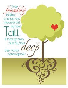 FREEBIE - Friendship Like a Tree Printable - Print, frame & give as a ...