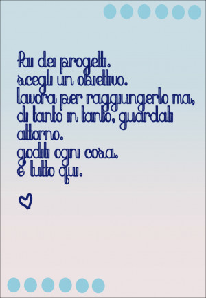 Italian Quote About Life