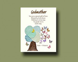 ... Godmother - Gift from Godchild - Godmother Keepsake, Godmother