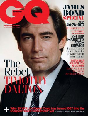 Timothy Dalton British GQ November 2012 James Bond Cover