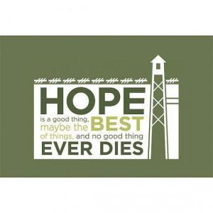 Shawshank Redemption Inspired Art Print Hope by FaithHopeTrick - Photo