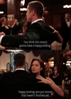 angelina jolie, brad pitt, couple, fact, film, happy ending, movie ...