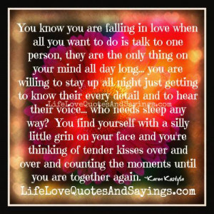 you know you are falling in love when all you want to do is talk to ...