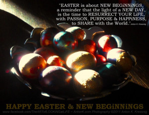 Happy Easter New Beginnings new day resurrection life passion purpose ...