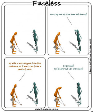 Faceless: The perfect golf shot