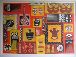 African Sun Painting Fine