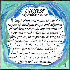 Success Ralph Waldo Emerson Quote Heartful Art Raphaella