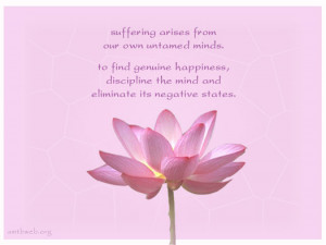 ... arises from our own untamed minds – Eliminate negative thoughts