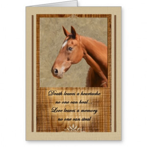 Pet Sympathy Loss of a Horse Deluxe Card