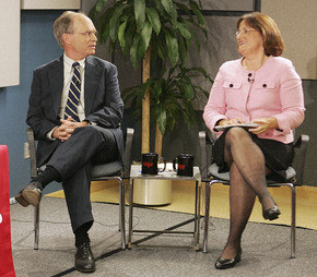 , Republican Charlie Bass, left, and Democrat Ann McLane Kuster ...