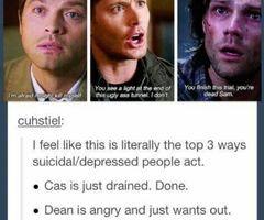 Sad Supernatural Quotes Tumblr Sad supernatural