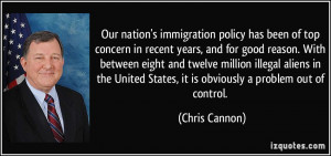 Our nation's immigration policy has been of top concern in recent ...