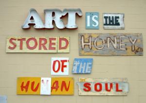 ... , art work by Gary Sweeney, San Antonio Museum of Art parking lot