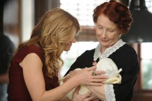 Vivien (Connie Britton) and Moira (Frances Conroy) coo over a darling ...