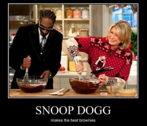 snoop dogg makes the best pot brownies