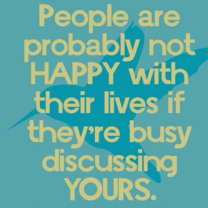 quotes about gossip quotes about haters Savvy Quote